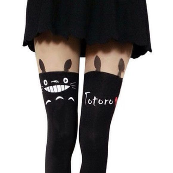 tights totoro ghibli kawaii ulzzang gyaru japan anime manga