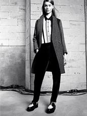 shoes,sandro,lookbook,fashion,coat,blouse,pants