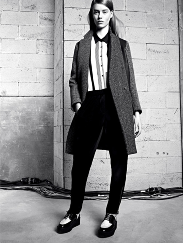 shoes sandro lookbook fashion coat blouse pants