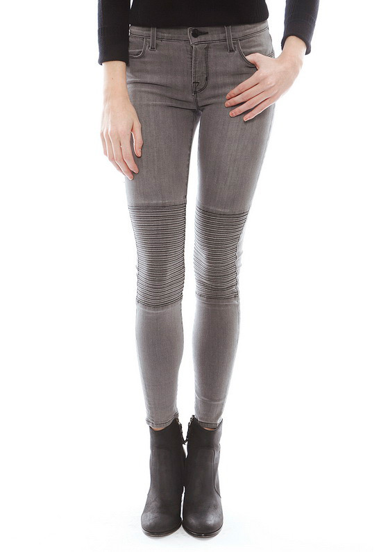J brand nicola powerstretch moto pant in onyx Smoke gray skinny leg jeans pants tight significant free shipping-in Jeans from Apparel & Accessories on Aliexpress.com