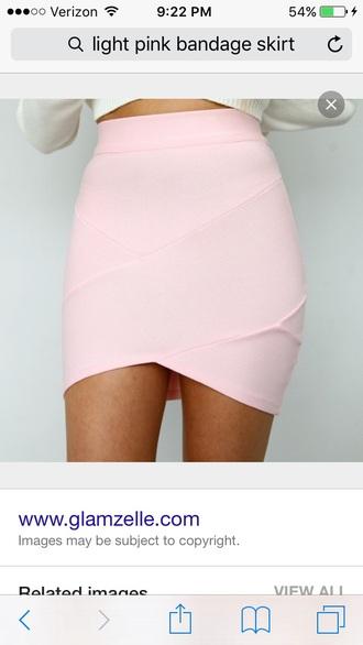 skirt bandage skirt bandage skirt pink bodycon skirt mini skirt
