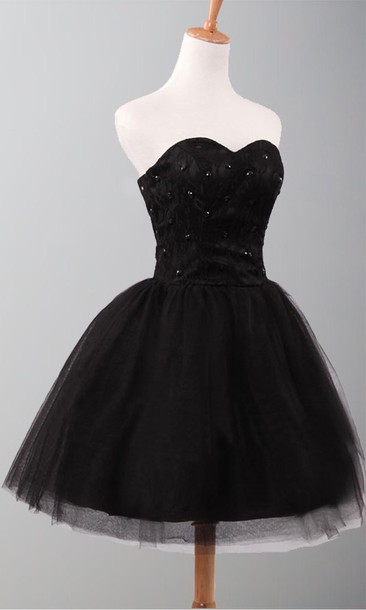 Dress: black dress, little black dress, prom gowns, short prom ...