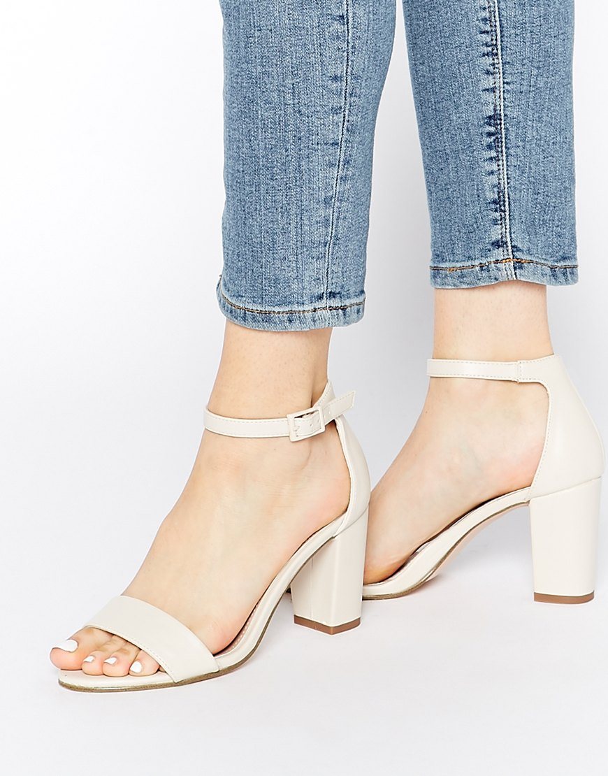 White sandals - Miss Kg Paige White Heeled Sandals At Asos Com