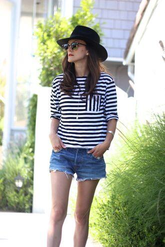 frankie hearts fashion blogger shirt shorts shoes sunglasses hat