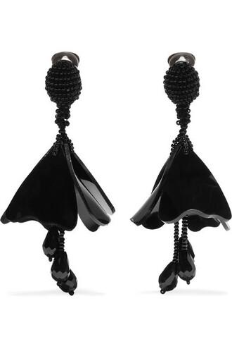 mini beaded earrings black jewels
