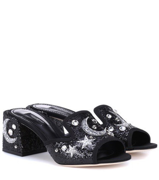 Dolce & Gabbana embellished mules black shoes
