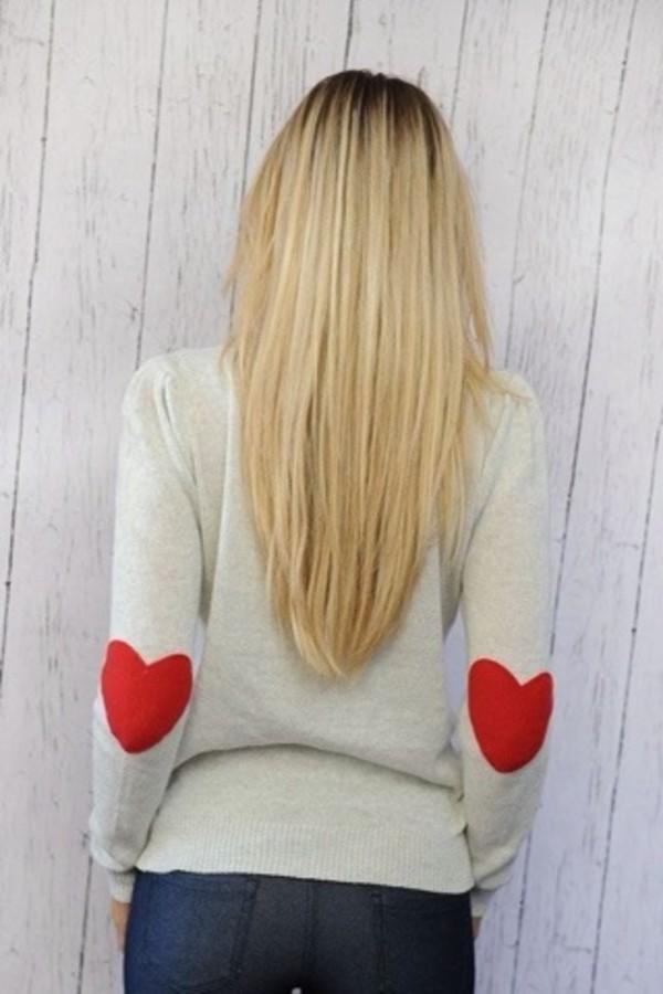 sweater heart hearts in elbows heart sweater