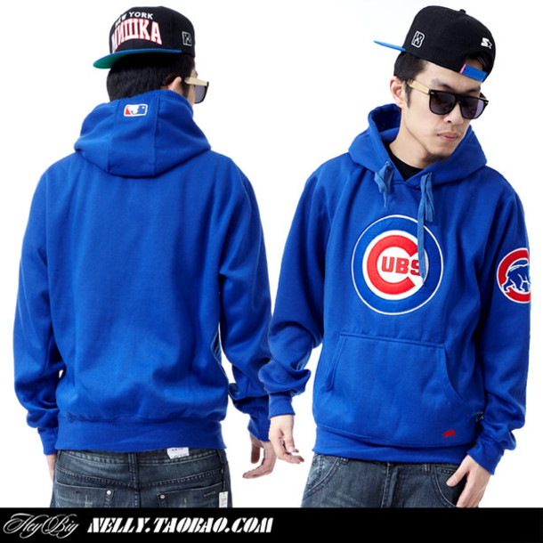 Sweater: cubs, blue, red, white, clothes, mac miller - Wheretoget