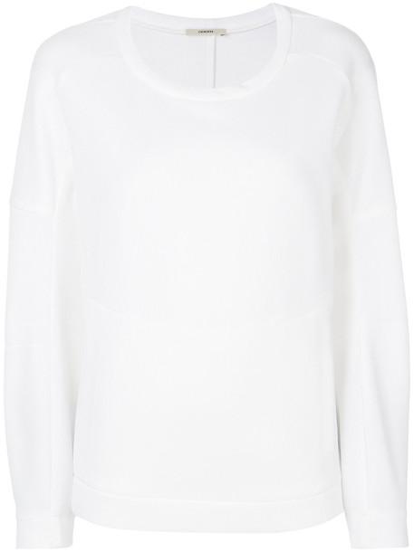 Odeeh sweatshirt women white cotton sweater