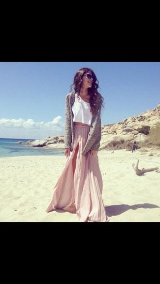 skirt pleated skirt maxi dress maxi skirt pink