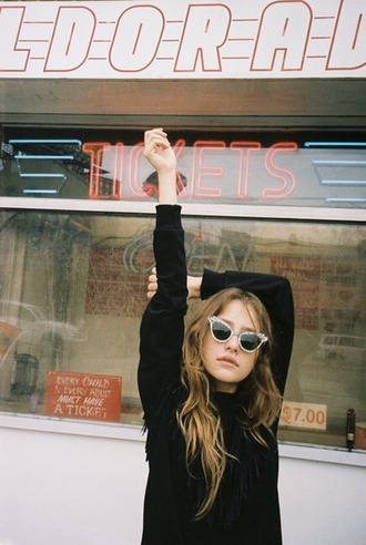 sunglasses sun cool fashion girl girly tumblr outfit fairy-like