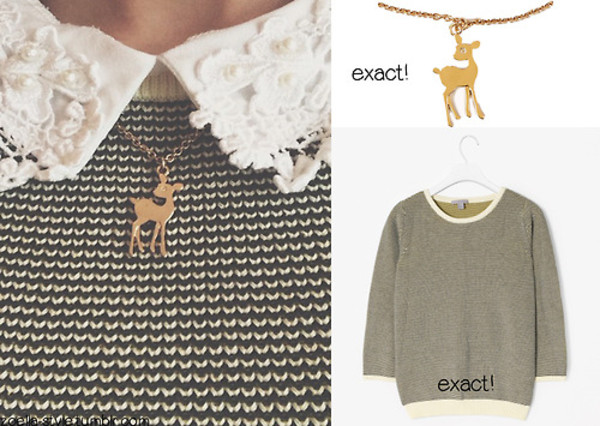 jewels shirt/bloues deer necklas