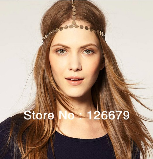 Aliexpress.com : buy 2013 new fashion charming round metal head chain designs for women(hlh003) from reliable head chain suppliers on hello lady