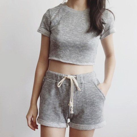 Knit Lounge Two Piece Set (Grey) · megoosta fashion · Free shipping worldwide on all orders