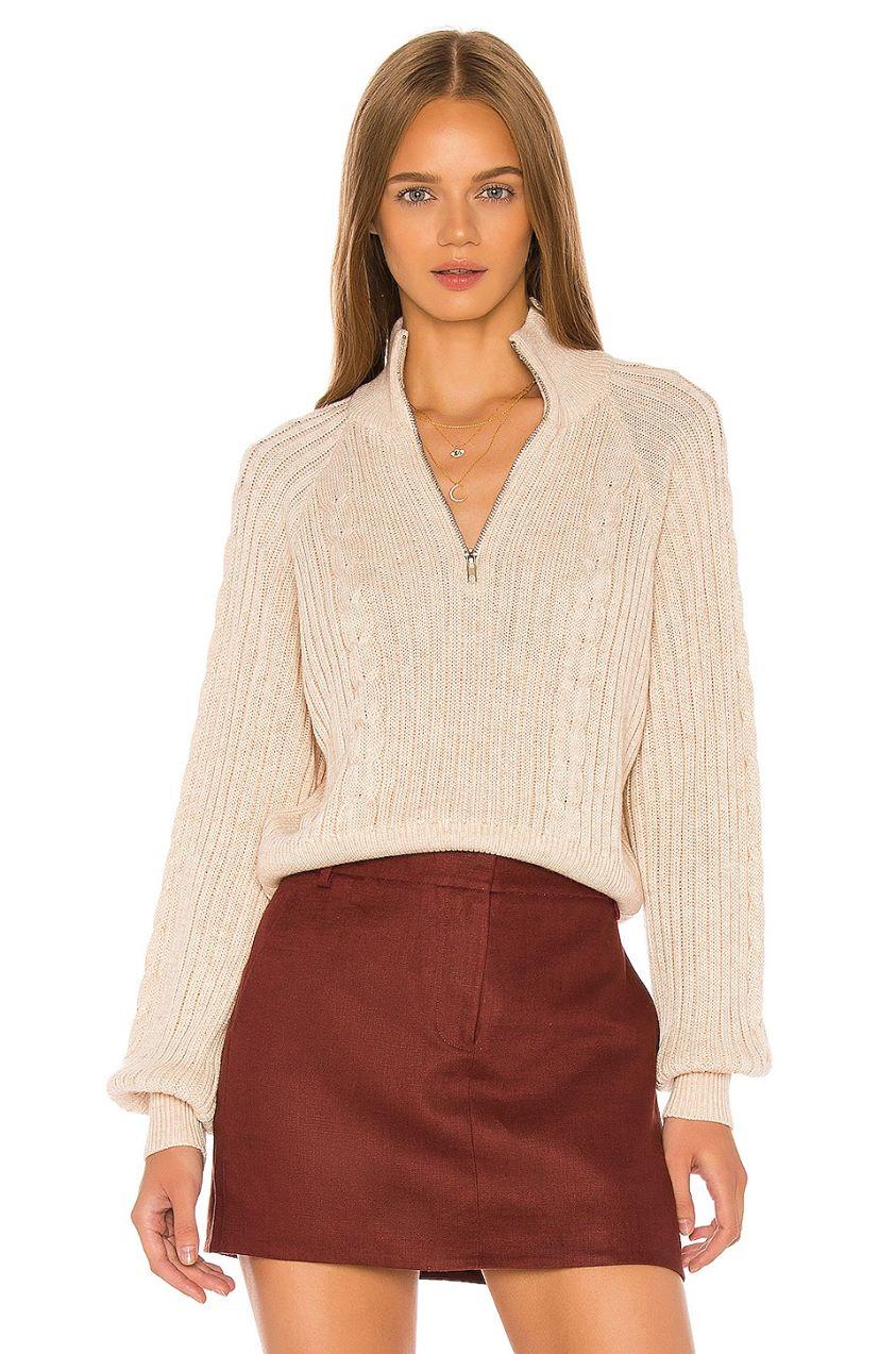 Rivka Zip Up Sweater