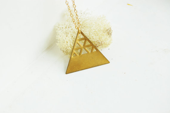Triangle Necklace by sophiedear on Etsy