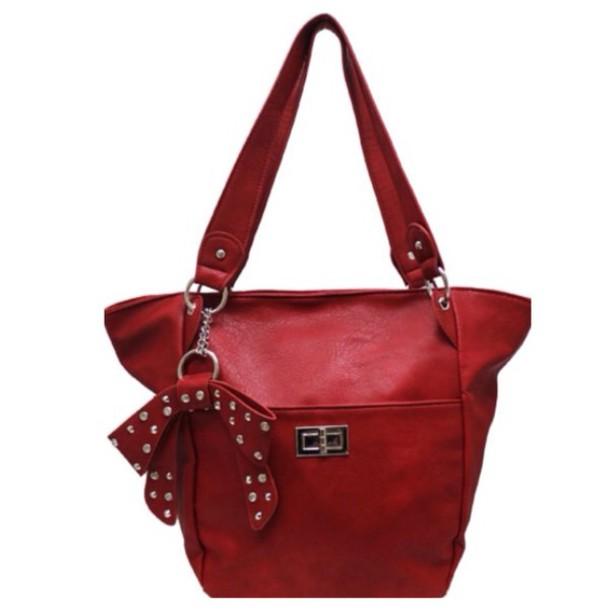 bag red shoulder bag shoulder purse rhinestones accessories women fashion