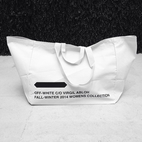 bag tote white