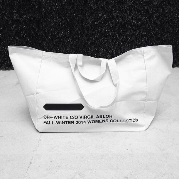 bag white tote bag