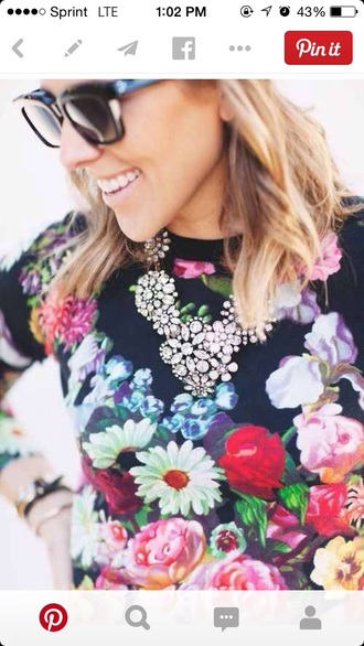 blouse floral fashion sweater