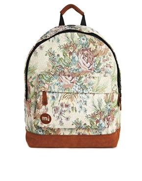 Mi-Pac | Mi Pac Floral Cotton Rose Backpack at ASOS