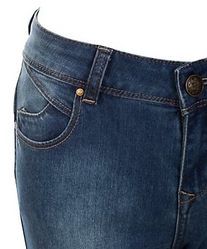 BRAND NEW LADIES EX NEW LOOK MID BLUE SKINNY SHAPER JEANS SIZES 8-18   Amazing Shoes UK