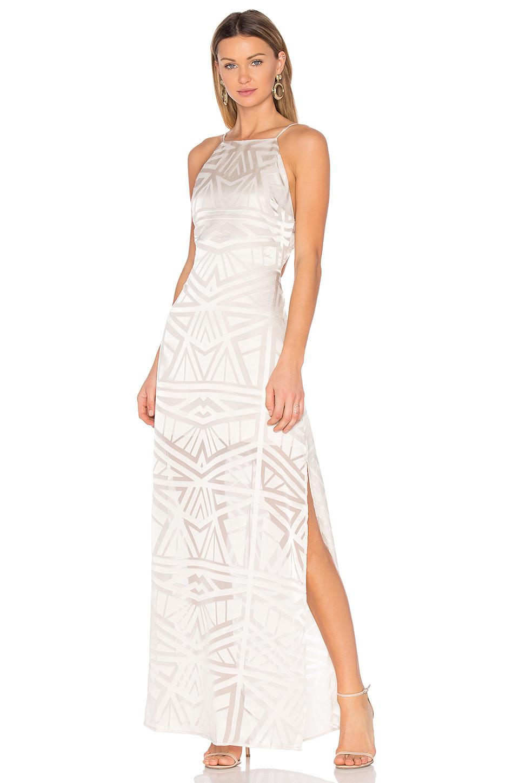 Capulet Anais Halter Maxi Dress in white
