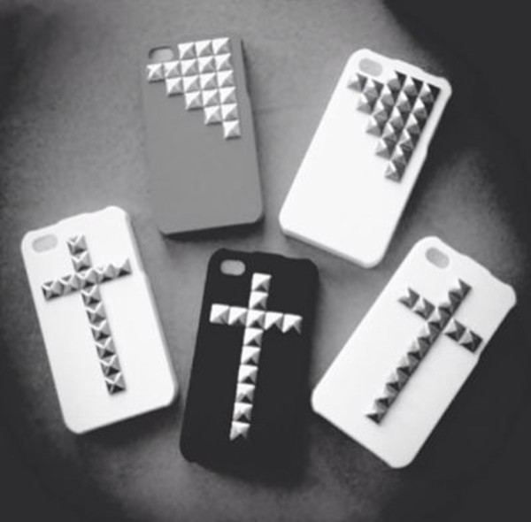 jewels iphone iphone 4 case pls cute cross jewels stud