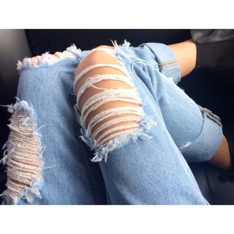 jeans denim fashion style holes ripped jeans