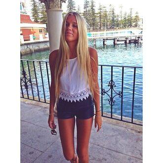 t-shirt tassel white crop tops pattern shorts blouse white summer tank top shirt blouse top