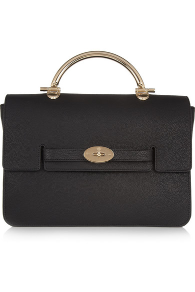 Mulberry | The Bayswater Shoulder large textured-leather bag | NET-A-PORTER.COM