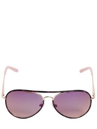 sunglasses aviator sunglasses black purple