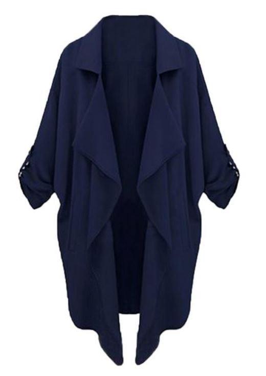 Dark Blue Lapel Coat