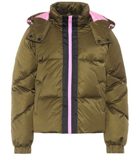 Ganni jacket quilted green