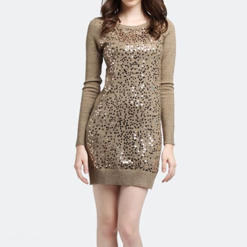 Fashion Womens Vintage Sequins Glitter Low Neck Back Bodycon Stretch Mini Dress-in Dresses from Apparel & Accessories on Aliexpress.com