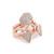 Luv Aj The Pave Shield Ring Set - Rose Gold