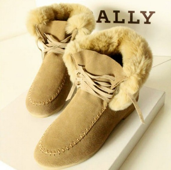 shoes boot flat lace up solid color