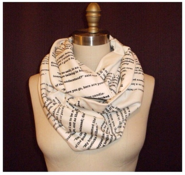 scarf les miserables quote on it