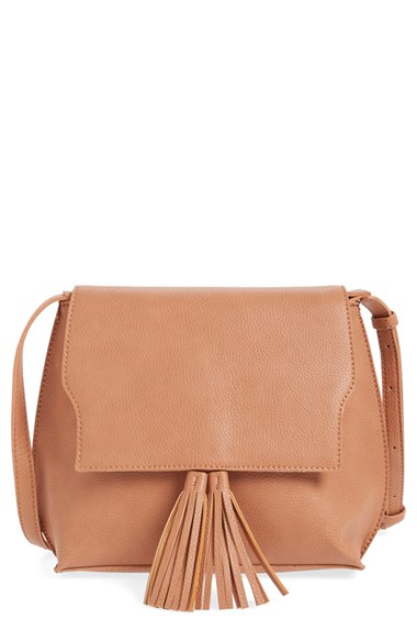Sole Society Tassel Faux Leather Crossbody Bag | Nordstrom