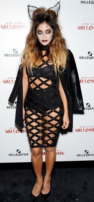 dress mesh see through dress halloween halloween makeup halloween costume halloween accessory nicole scherzinger underwear celebrity halloween costume