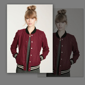 jacket,hipster,swag,summer,sportswear,baseball,burgundy,urban outfitters