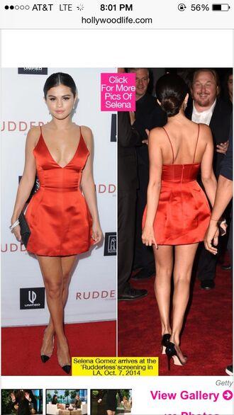 red dress pretty dress selena gomez