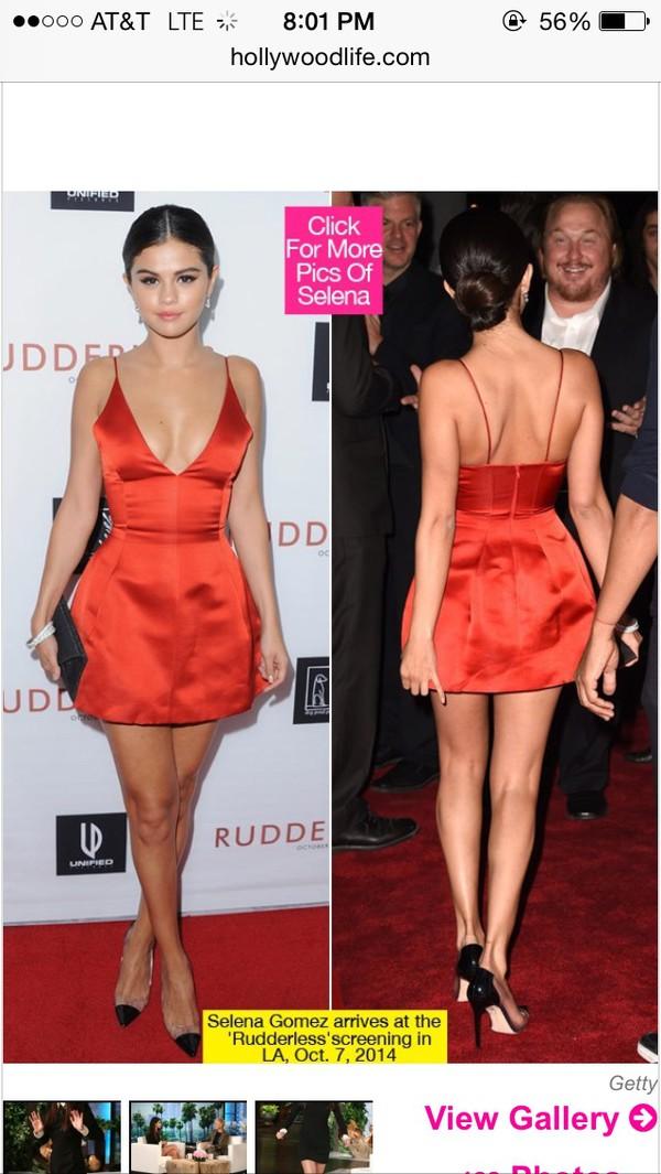 red dress dress selena gomez