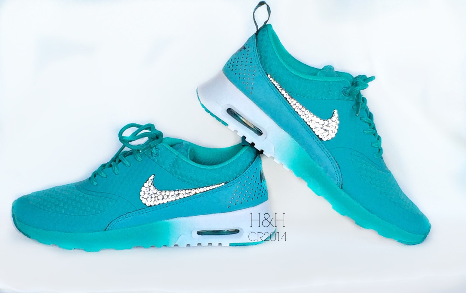 promo code 61673 946e6 shoes, blue, green, white, nike, air max, lovely, air max, ombre, tumblr, air  max, swoosh, purple, turquoise, trainers, nike sneakers, neon, gradient, air  ...