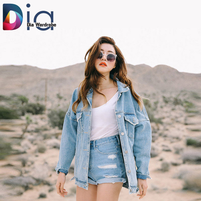 887d288ac Dia Womens Denim Jackets And Coats Streetwear Style Autumn And ...