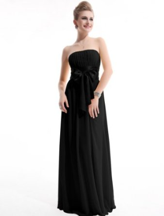 Amazon.com: Ever Pretty Empire Waist Bowtie Strapless Evening Dress 09060: Clothing