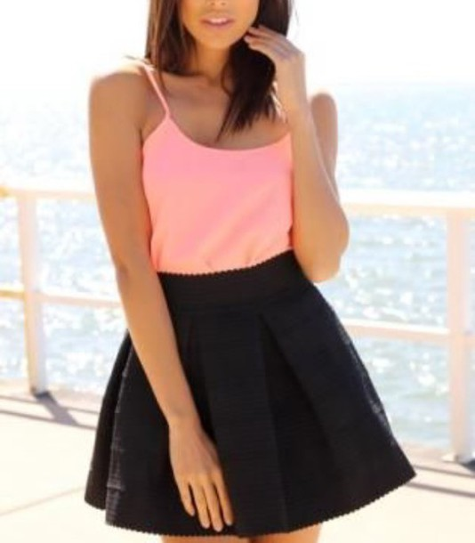 skirt skater skirt black skirt cute skirt