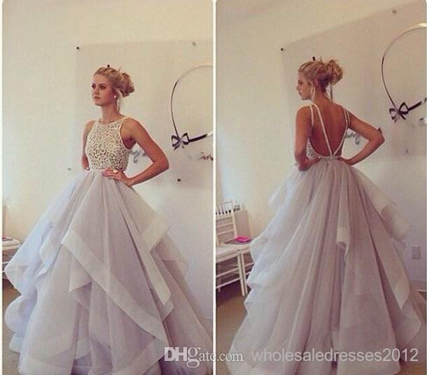 Throug sparkly beaded natural waist open back ball gown fashion designer wedding dresses new fashion online with $239.8/piece on wholesaledresses2012's store