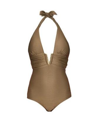 khaki swimwear