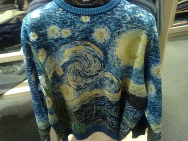 sweater sweater van gogh sweater
